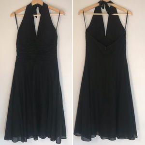 WHBM Black Halter Dress